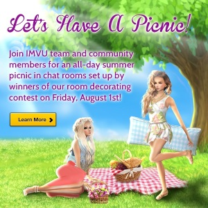 Join us in IMVU for a Summer Picnic | IMVU Community Updates